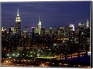 Midtown Manhattan at Night 1 Fine-Art Print