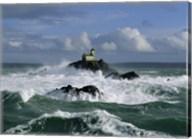 Phare de Tavennec, mer d'Iroise Fine-Art Print