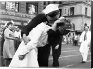Kissing the War Goodbye in Times Square, 1945 (detail) Fine-Art Print