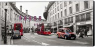 Buses and taxis in Oxford Street, London Fine-Art Print