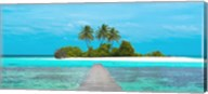 Jetty and Maldivian island Fine-Art Print