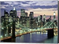 Brookyn Bridge and Downtown skyline, NYC Fine-Art Print