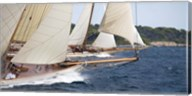 Vintage Sailboats Racing Fine-Art Print