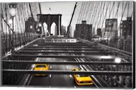 Taxi on Brooklyn Bridge, NYC Fine-Art Print