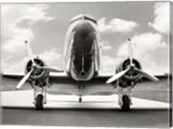 Vintage DC-3 in air field Fine-Art Print