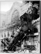 Train wreck at Montparnasse, Paris, 1895 Fine-Art Print