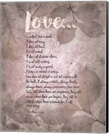Corinthians 13:4-8 Love is Patient - Grey Leaves Fine-Art Print