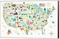 Illustrated USA Fine-Art Print