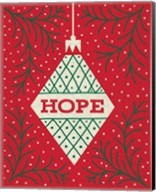 Jolly Holiday Ornaments Hope Fine-Art Print