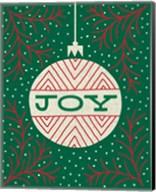 Jolly Holiday Ornaments Joy Fine-Art Print