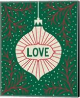 Jolly Holiday Ornaments Love Fine-Art Print