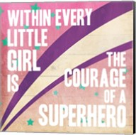 Superhero Girl Mate Fine-Art Print