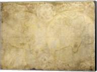 World Map in Gold Fine-Art Print