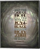 Romans 15:13 Abound in Hope (Forest) Fine-Art Print