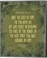 Romans 15:13 Abound in Hope (Green) Fine-Art Print