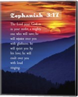 Zephaniah 3:17 The Lord Your God (Sunset) Fine-Art Print