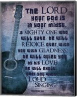 Zephaniah 3:17 The Lord Your God (Guitar) Fine-Art Print