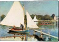 Sailing at Argenteuil, c.1874 Fine-Art Print