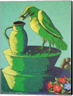 Topiary Crow with Jug Fine-Art Print