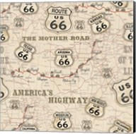 Route 66 Map Fine-Art Print