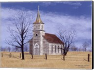 Little Church House On The Prairie Fine-Art Print