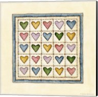 Hearts Patchwork Fine-Art Print