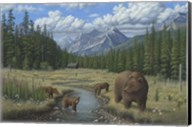 Checking Things  Out - Grizzlies Fine-Art Print