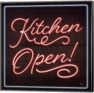Neon Kitchen Open Fine-Art Print