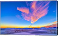 Sunset colors over White Sands National Monument, New Mexico Fine-Art Print