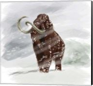Mammuthus Primigenius walking through a Blizzard Fine-Art Print