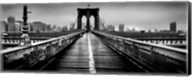 Fog over the Brooklyn Bridge, Brooklyn, Manhattan, NY Fine-Art Print
