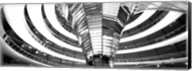 Interiors of a government building, The Reichstag, Berlin, Germany BW Fine-Art Print