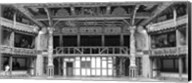 Interiors of a stage theater, Globe Theatre, London, England BW Fine-Art Print