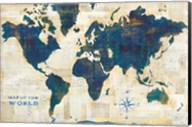 World Map Collage Fine-Art Print
