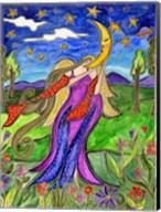 Big Diva Angel And Moon Fine-Art Print