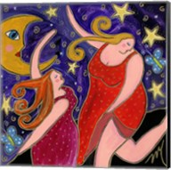 Big Diva Moon Goddesses Dancing Fine-Art Print