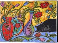 Flower Shop Catnap Fine-Art Print