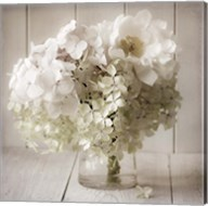 White Flower Vase Fine-Art Print