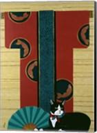 Cat And Kimono Fine-Art Print