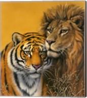 Lion & Tiger Fine-Art Print