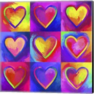 Pop Art Heart 2 Fine-Art Print