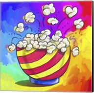 Pop Art Popcorn Bowl Fine-Art Print