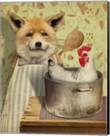 Fox And Chicken Fine-Art Print
