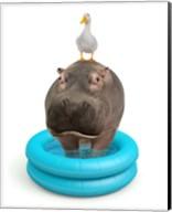 Hippo And Duck Fine-Art Print