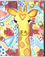 Watercolor - Giraffe Fine-Art Print