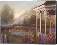Gazebo With Foxgloves Fine-Art Print
