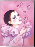 Mime With Heart Bubbles Fine-Art Print