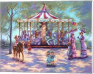Red Carousel Fine-Art Print