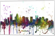 Charlotte NC Skyline Multi Colored 1 Fine-Art Print