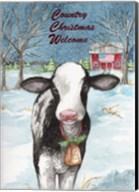 Country Christmas Cow Flag Fine-Art Print